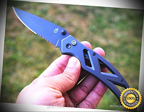 Clip Sentinel (7.25 INCH OVERALL PARAFRAME SPRING ASSISTED SHARP KNIFE WITH POCKET CLIP - Premium Quality Hunting Very Sharp EMT EDC)