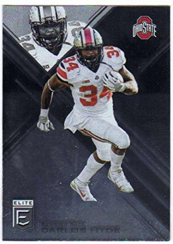 2017 Panini Elite Draft Picks #18 Carlos Hyde Ohio State Buckeyes Football Card