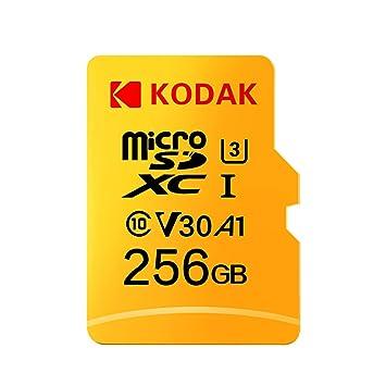 Docooler Kodak Tarjeta Micro SD de 256 GB TF Tarjeta de Memoria U3 A1 V30 100 MB/s 4 K