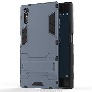 Cocomii Iron Man Armor Sony Xperia XZ/XZs Funda Nuevo [Robusto] Superior Táctico Sujeción Soporte Antichoque Caja [Militar Defensor] Cuerpo Completo ...