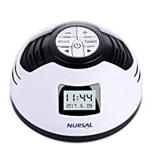 White Noise Machine, [with Alarm Clock Function] NURSAL Sleep Sound Machine with 8 Soothing Sounds, Spa Relaxation Sound Sleep Therapy with Auto-off Timer for Baby Adult Office and Travel, White
