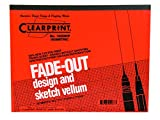Clearprint 1000H Design Vellum Pad with Printed Fade-Out 30-Degree Isometric Grid, 16 lb, 100% Cotton, 8-1/2 x 11 Inches, 50 Sheets, 1 Each (10005410)