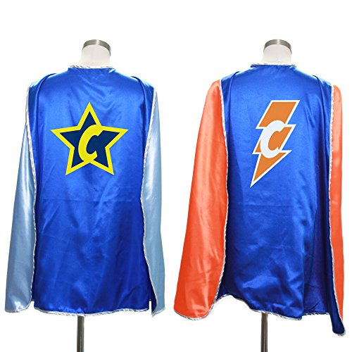 Everfan Personalized Superhero Capes for Kids | Custom Child Super Hero Cape | Cape Costume for Children | Polyester Satin (Royal ()
