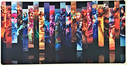 12 Legends - 24x12 Inch LOL League of Legends Extended HD Gaming Collection Office Mouse Pad Non Slip Rubber Mouse mat