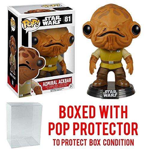 Funko Pop! Star Wars: The Force Awakens - Admiral Ackbar #81 Vinyl Figure (Bundled with Pop BOX PROTECTOR CASE)