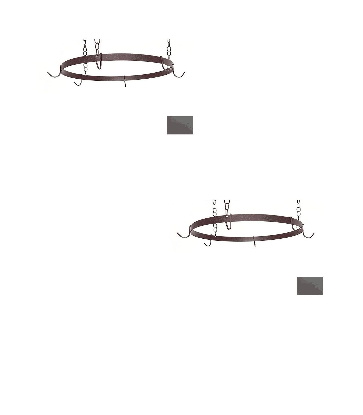20-in x 20-in Jade Teal Round Pot Rack - Grace Collection Model - GMC-BR-20-JT - Set of 2 Gift Bundle
