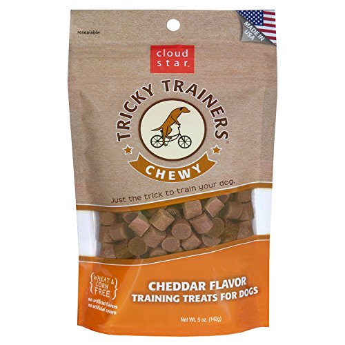 Cloud Star Chewy Tricky Trainers - Cheddar, 5-Ounce Bags (Pack of (Right Training Treats)