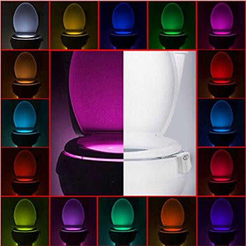 Toilet Night Light,Advanced 16-Color Motion Sensor Toilet Light,Motion Activated Toilet Night light, Auto Motion Activated Sensor Colorful Nightlight,