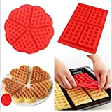 2 Style Nonstick Silicone Waffle Mold Biscuit Cooking Kitchen Baking Tool Pack of 2