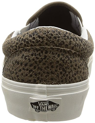 Cheetah Tan Slip Zapatillas Bajas Unisex On Suede Cheetah Suede U Classic Vans Black wqCOIB