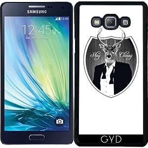 Funda para Samsung Galaxy A7 (SM-A700) - Ciervos Permanecen Con Clase by wamdesign