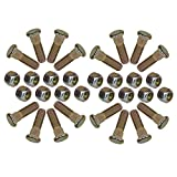 """Pack of 16 3/8"""" UNF Wheel Studs And Nuts For 4"""" PCD Trailer Suspension Hubs"""