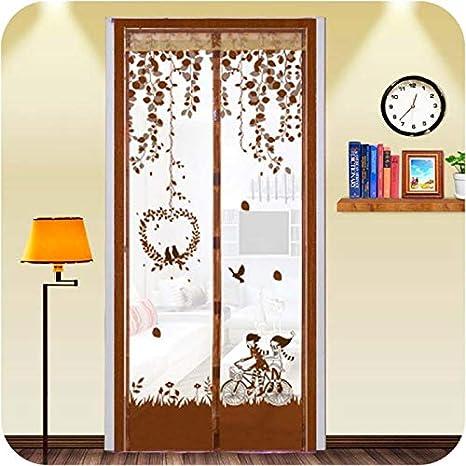 Casa de verano dormitorio mosquitera electromagnética puerta anti-mosca puerta ventana ventana magnética pantalla malla puerta ventana ventana puerta A2 W120xH210