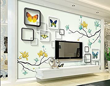 Chan-Mei 3D un televisor grande de papel de pared de fondo de ...