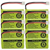 QBLPOWER 2.4V Rechargeable Battery For AT&T and Vtech Phones BT18433 BT184342 BT28433 BT284342 BT-8300 BATT-6010 BT1011 BT1018 BT1022 BT1031 89-1326-00-00/89-1330-01-00/CPH-515D(Pack of 8)