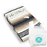 Rolling Sands Hand Woven Classic Mexican Yoga Blankets Sand