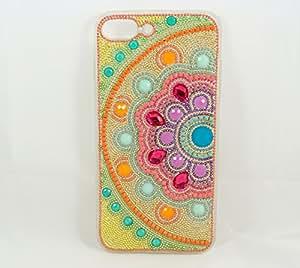 iPhone 7plus/8plus Hybrid Bling Design Mandala Case