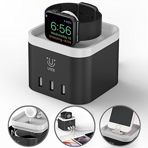 Charging Station Management Nightstand Compatible