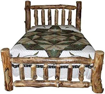 rustic aspen log bed king size