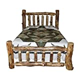King Size Log Bed Frame Rustic Aspen Log Bed King Size Mission Style Bed