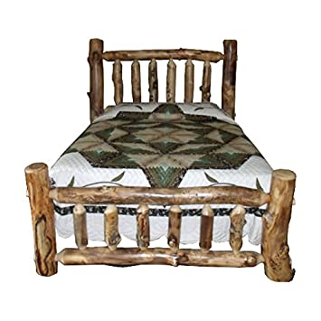 Prime Amazon Com Furniture Barn Usa Rustic Aspen Log Bed King Download Free Architecture Designs Terstmadebymaigaardcom