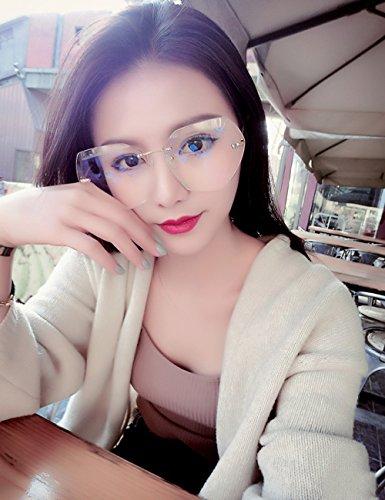 del Color Brown graduales de Femeninas LVZAIXI Marrón Sunglasses Sol Claro poligonales los vidrios de Marco Sol de de Gafas Gafas wx7fxTq0