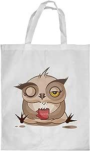 Printed Shopping bag, Small Size, Cartoon Drawings - Owl