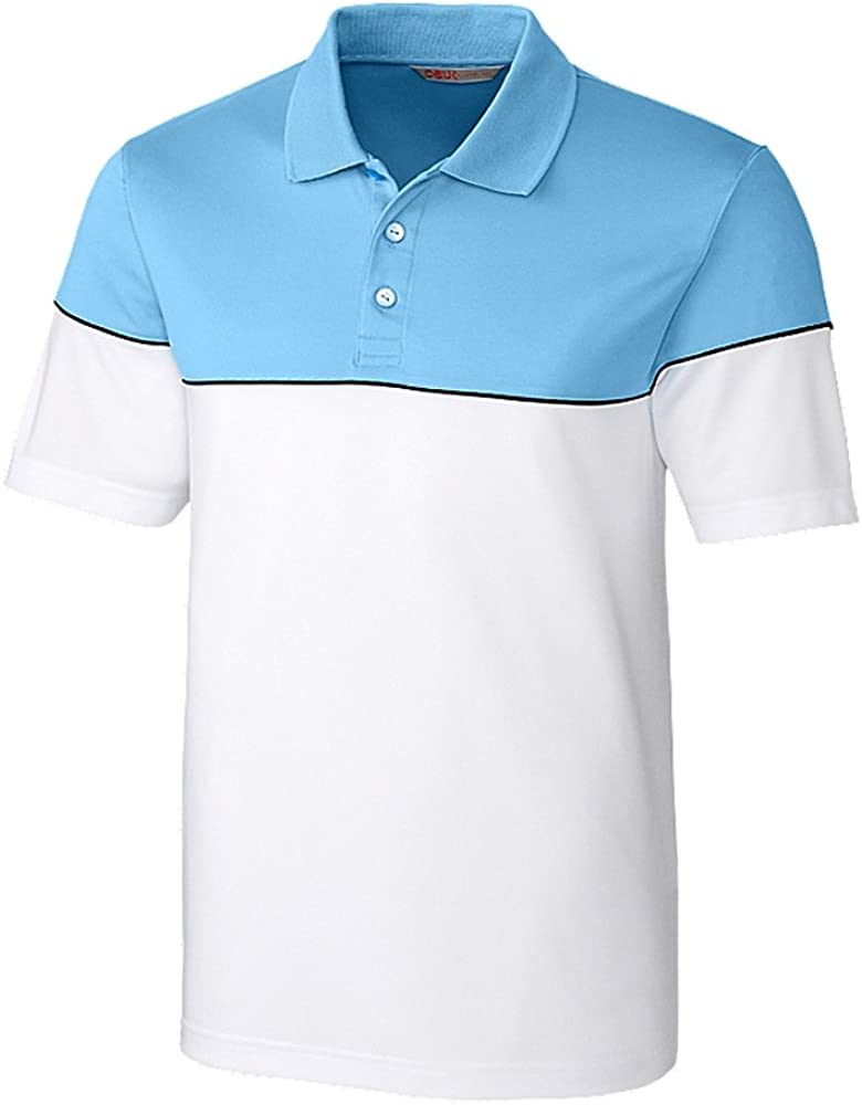 Cutter & Buck MBK01301 Mens Harrington Polo Shirt, Atlas/White - XXXL 51rosvdlCsL