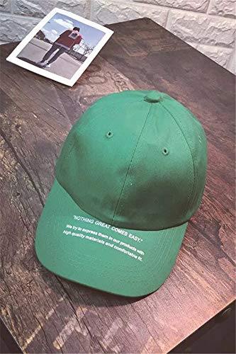 Summer Letters Base Leisure Cap Men Women Unique Outdoor Sun hat Cap Child Green