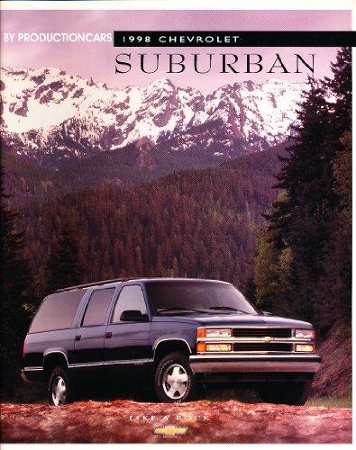 1998 Chevrolet Suburban Truck 34-page Original Sales Brochure Catalog Chevy