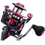 One Bass Fishing reels Light Weight Saltwater Spinning Reel – 39.5 LB Carbon Fiber Drag,12+1 BB Ultra Smooth All Aluminum Inshore Reel for Saltwater or FreshwaterR-Spider DL 2000