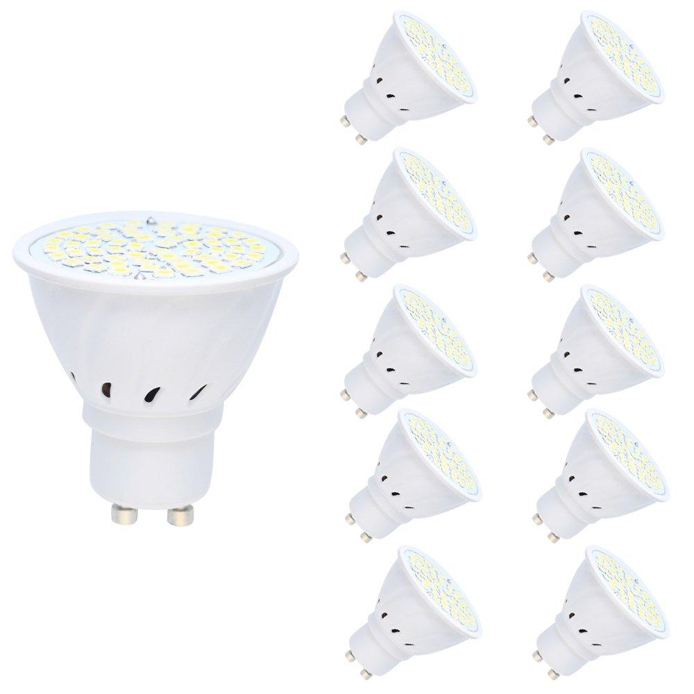 10 Pack GU10 LED Bulb 3W Ampoule Lampe 60 SMD 2835LEDs Blanc Froid 6000K Spot LED light 250LM 120° angle de faisceau AC220V