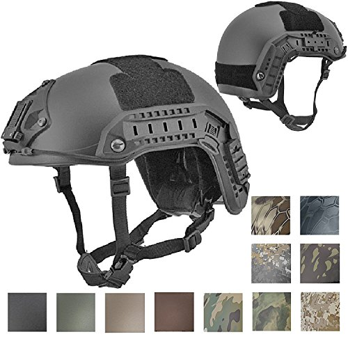 - Lancer Tactical CA-805B Maritime ABS Helmet Color: Black, Size: Medium to Large