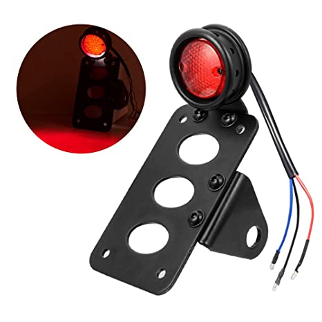 Electric Vehicle Parts For Motorcycle Harley Chopper Bike Cross Rear Tail Brake License Plate Led Light