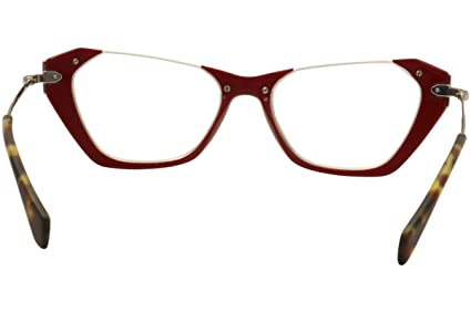 d50a38c6381 MIU MIU Eyeglasses MU 04OV UA41O1 Red 52MM at Amazon Women s Clothing store