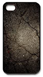 iPhone 4S Case and Cover -Grunge Texture PC case Cover for iPhone 4 and iPhone 4s ¨CBlack