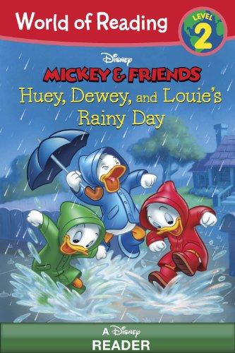World of Reading Mickey & Friends:  Huey, Dewey, and Louie's Rainy Day Adventure: Level 2