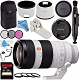 Sony FE 100-400mm f/4.5-5.6 GM OSS Lens SEL100400GM + 77mm 3 Piece Filter Kit + 77mm Macro Close Up Kit + 256GB SDXC Card + Lens Pen Cleaner + Fibercloth + Lens Capkeeper + Deluxe Cleaning Kit Bundle