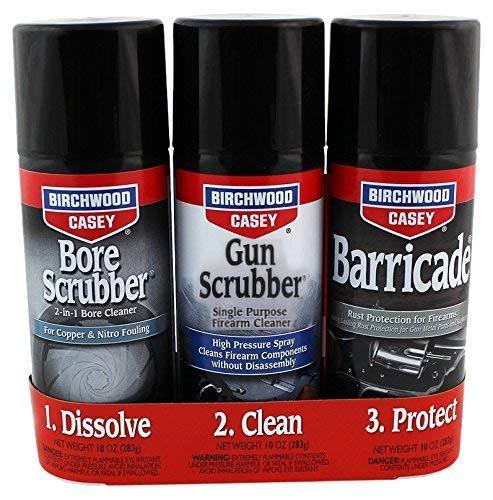 Birchwood Casey 1,2,3 Gun Scrubber, Bore Scrubber & Barricade Value Pack