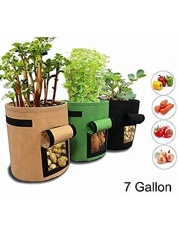 0158e6835bf4 Gemgo 3 Pack Potato Grow Bag, Aeration Waterproof Fabric Sweet Potato  Planter, Velcro Window