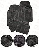Autosun Car Floor/Foot Mats Black Rubber for Universal CAR