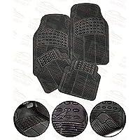 Autosun Car Floor/Foot Mats Black Rubber for Universal CAR