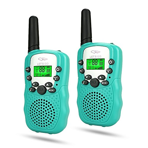 dmazing Christmas Xmas Presents Gifts for Kids Boys 3-12, Two-Way Radio Long Range Walkie Talkies Outdoor Camping Toys for Girls Toys for 3-12 Year Old Boys Stocking Stuffers Stocking Fillers Green (Good Christmas Girls For Presents)