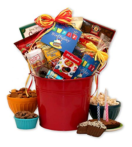 Happy Birthday Especially for Him Gift Pail (Birthday Gift Baskets For Husband)