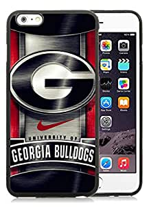 Georgia Bulldogs 02 Black Cool Customized Design iPhone 6 plus,iPhone 6s plus 5.5 Inch Silicone TPU Case