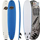 SBBC ||- Surfboard -||- 8'8 Heritage Soft Top Surfboard -||- Wax Free Surfboards -||- Performance Focused Surf Board Includes Foam Surfboard, Leash, Fins -||- Deluxe Package Options Available -||