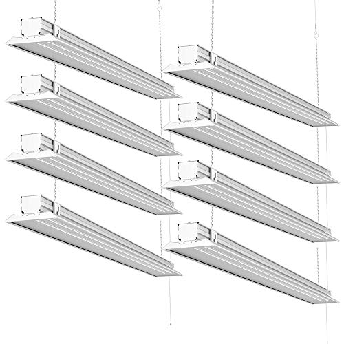 Sunco Lighting 8 Pack 4ft 48 Inch LED Flat Utility Shop