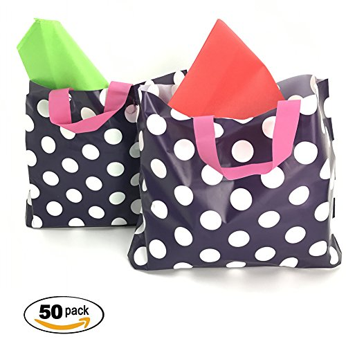 sesco-12x15x3-1-2-inches-purple-polka-dots-plastic-merchandise-bags