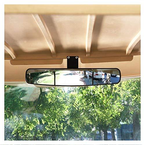 10L0L Wide Rear View Convex Golf Cart Mirror for EZ Go, Club Car, Yamaha