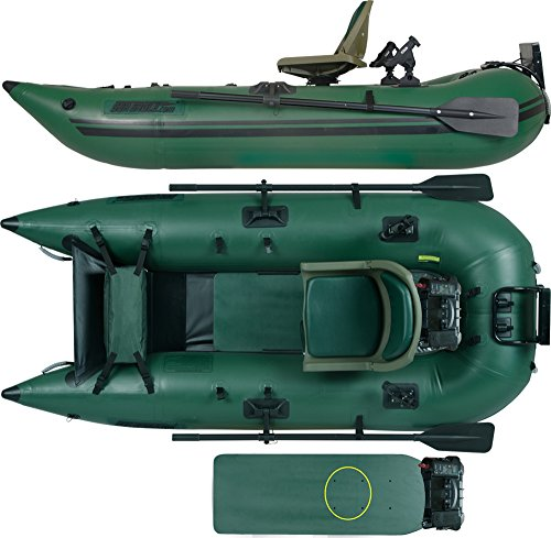 Sea eagle 285 inflatable frameless fishing pontoon boat for Fishing rafts for sale